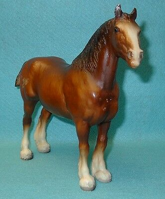 Breyer Traditional Awesome Bald Face Chestnut Clydesdale Mare #83 Guc 69-89
