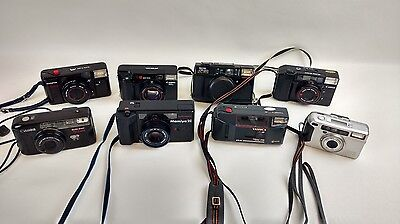 Broken defective 35mm camera Lot of 8 Canon Ricoh Pentax Yashica Olympus