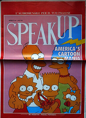 "Locandina Speak -up  aprile 1991 - THE SIMPSONS ""  >> poster_manifesto_comics"