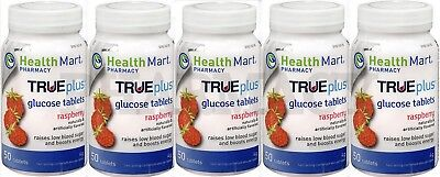 HM Glucose Tablets RASPBERRY 50 count (5 pack)  PHARMACY FRESH***