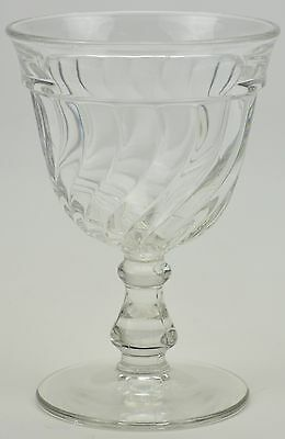 """Vintage Fostoria Glass Water Goblet Colony Pattern 5.5"""" Tall Collectible Crystal"""