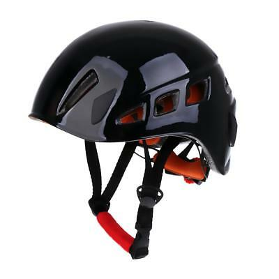 Safety Rock Climbing Rappelling Rescue Helmet Aerial Work Head Protector BLK