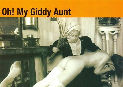 Postcard Oh! My Giddy Aunt, Naughty, Rude, Risque, Nude, Thrashing, Wip, Comic