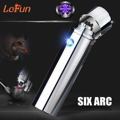 Atomic-USB-Electronic-Lighter-Double-Arc-Flameless-Plasma-Recharge-Windproof-NEW