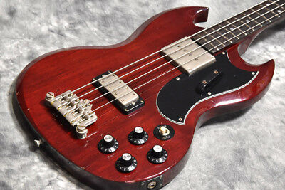 Greco EB-50 Cherry 1986 Bass Guitar Vintage Excellent condition Used from japan