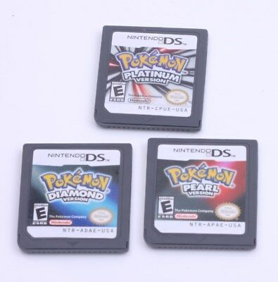 Pokemon Platinum+Diamond+Pearl Game Card For Nintendo 3DS NDSI NDSLL NDS Lite
