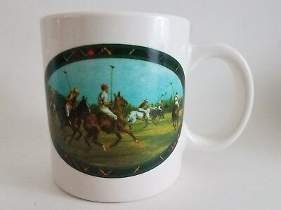 Ralph Lauren Polo Match Mug Coffee Cup Men's Horse Riding Equestrian 12 oz