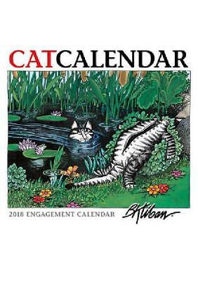 2018 Engagement Cat calendar B Kliban fifty-three weekly grid double-page spread