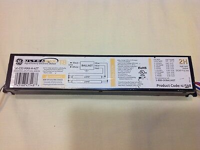 (lot of 4) T8 2H High-efficiency Electronic Ballasts GE-232-MAX-H-42T, UltraMax
