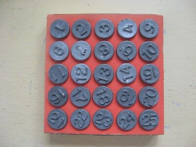 VINTAGE ACRO Window Markers Hold-Tite Set of 25 Numbering Tacks 1948 New Old Stk