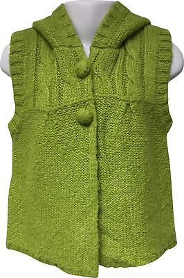 PRE-OWNED Girls Next Green Short Sleeve Hooded Cardigan Size 3-4 Yrs