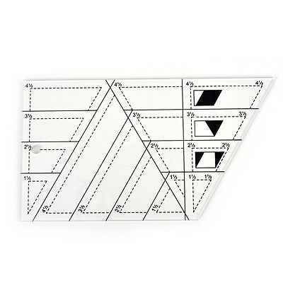 1pcs Acrylic Material Multifunction Quilting Ruler Shaped Like A Trapezoid D-
