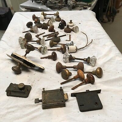old vintage door knobs and locks