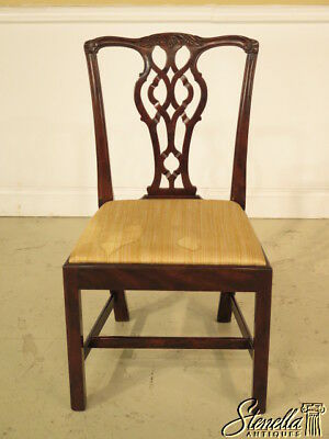 23085E: English Made Vintage Chippendale Mahogany Side Chair