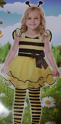 Cute As Can (Bumble) Bee Costume 3 Pc. Girl Size Toddler 2T Halloween