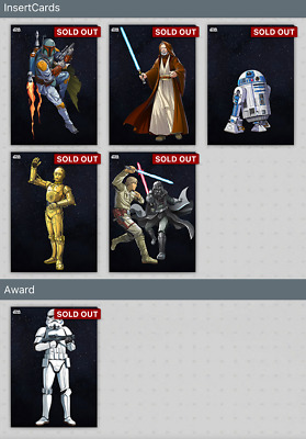 Topps Star Wars Card Trader Galactic Icons Wave 1 with award