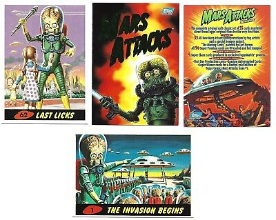 Mars Attacks Archives 1994 Topps Complete 100 Card Set In Plastic Case W/promo