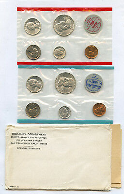 1963 Uncirculated US Mint Set In Original Mint Issued Holders See Description