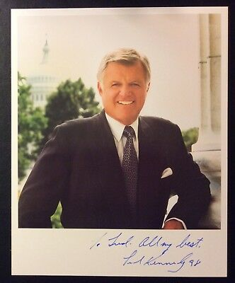 Edward Ted Kennedy Signed AUTO 8x10 Photo~Guaranteed To Pass JSA/PSA
