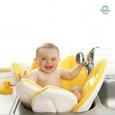 Blooming Bath Original Baby Bath, Bathing Mat, Yellow