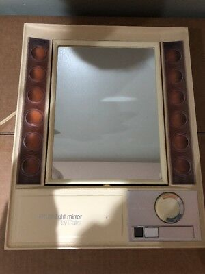 Vintage CLAIROL LM-1 TRUE To LIGHT Mirror- Evening/Office/Day Settings- Tested!