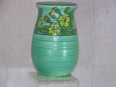 Charlotte Rhead Crown Ducal Art Deco Floral Design Signed Art Pottery Vase