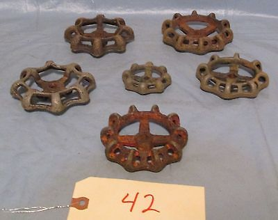 6 Vintage Industrial Machine Age  Water Valve Handle Steampunk Altered Art