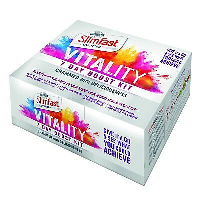 SlimFast Vitality 7 Day Starter Boost Kit Weight Loss Plan Vitality Meal Planner