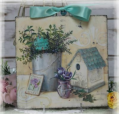 """~ Vintage """"HERBS"""" ~ Country ~ Shabby Chic ~ Cottage style ~ Wall Decor Sign ~"""