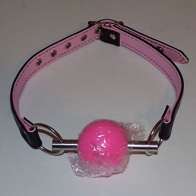 TheSexShopOnline - Solid Pink Ball Gag With Bar Restraint Bondage Fetish