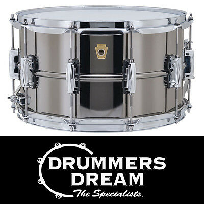 "Ludwig Black Beauty 14"" x 8"" Snare Drum LB408 Brass Shell RRP $1699.00"