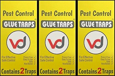 6 X EXTRA STRONG PEST CONTROL GLUE TRAPS (For Small & Large Pests)