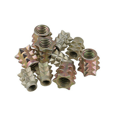 M4 M6 Hex Drive Head Threaded Insert Nut Furniture Screws For Wood Zinc Alloy