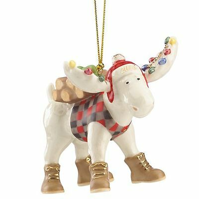 Lenox 2016 Marcel the Lumberjack Moose Christmas Ornament New in Box