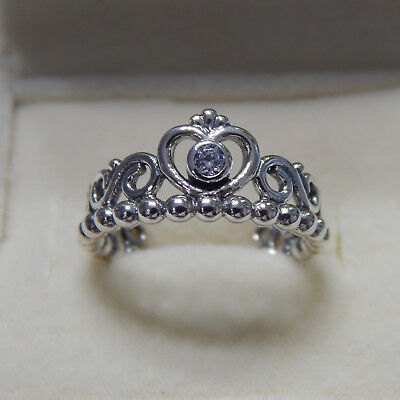5e3bdd263 ... New Authentic Pandora Ring My Princess Clear CZ Size 56 190880CZ Box  Included ...