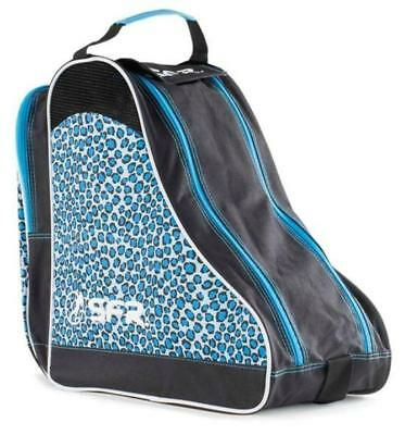 SFR Designer Ice & Skate Bag Blue Leopard Figure Hockey Roller