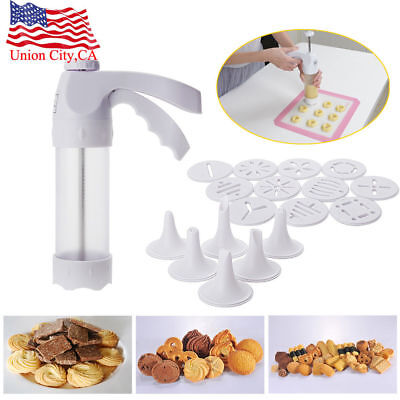 Baking Cake Biscuits Mold Cookie Icing Press Making Gun Cookies Presser Mould