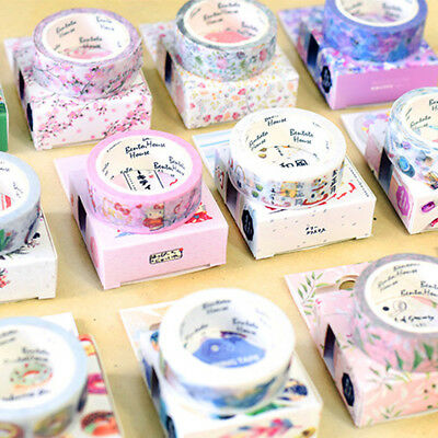 7M DIY Self Adhesive Cartoon Washi Masking Tape Sticker Craft Decor Decorative