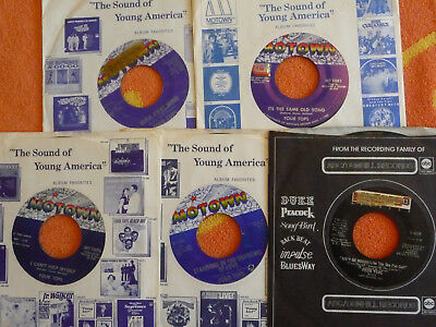 Lot of 5 FOUR TOPS 45 rpm Singles I Can't Help Myself/It's The Same Old Song
