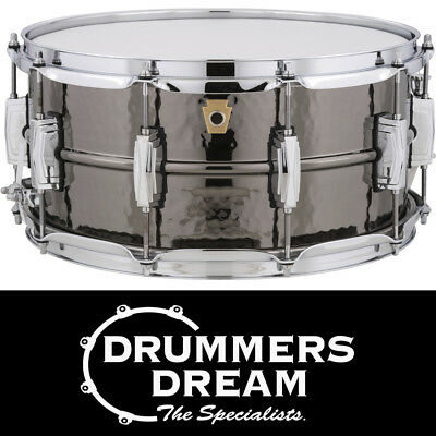 """Ludwig Black Beauty 14"""" x 6.5"""" Snare Drum Hammered Shell - ONE ONLY!!"""