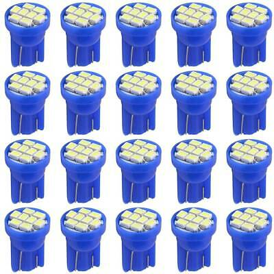 20X Ice Blue T10 8-SMD LED Interior Dome Instrument Dash Lights Bulbs 2825 194