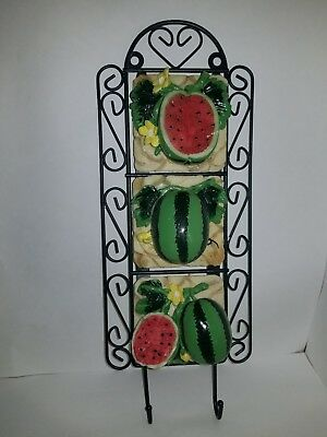 Watermelon key / towel hooks wall decor for kitchen bathroom home New
