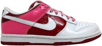 size 40 49d14 382c6 Nike Dunk Low White White-Varsity Red-Team Red 317813-114 Women s