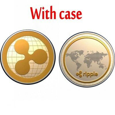 1 PACK Gold Ripple Commemorative Round Collectors Coin XRP Coin Gold Plated Coin