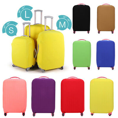"""2019 Solid Color Elastic Suitcase Luggage Cover Protective Dustproof Fit 18-30"""""""