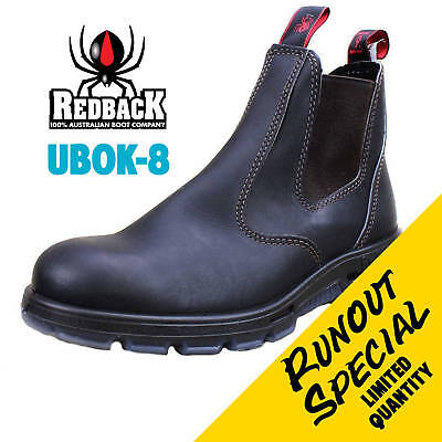REDBACK UBOK Size AU8 Bobcat Soft Toe Boot DARK BROWN RUNOUT LIMITED QUANTITY