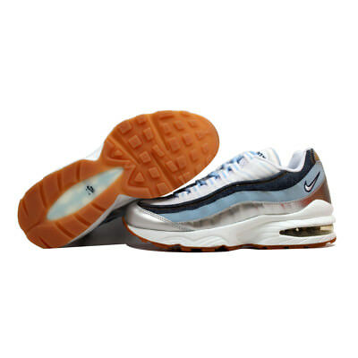 Nike Air Max 95 LE White/White-Ice Blue-Midnight Navy 310830-113 GS SZ 7Y