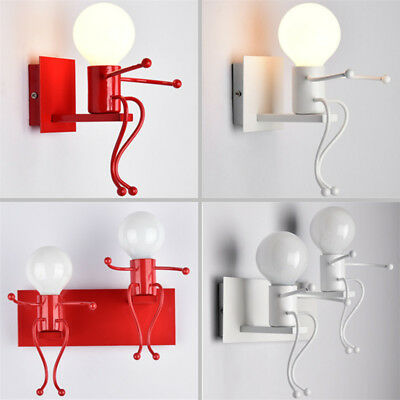 Humanoid Wall Lamp Bedroom Wall Sconce Wall Light Wall Fixtures Iron Night Light
