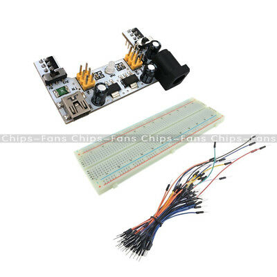 Mini USB MB102 Power Supply 830 Solderless PCB Breadboard+65PCS Jump Cable Wires