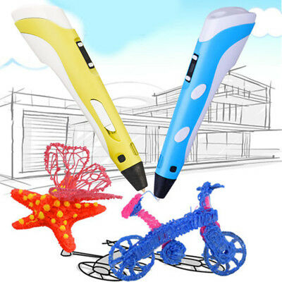 New 3D Printing Pen Stereoscopic Drawing Doodler Arts Crafts ABS Filaments +Plug